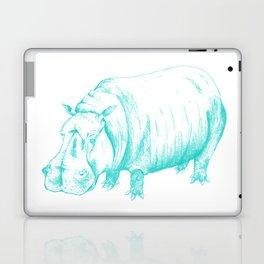 Hippo Turqoise Laptop & iPad Skin