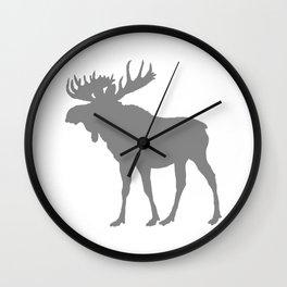 Moose: Grey Wall Clock