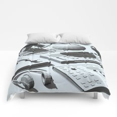 Low Poly Studio Objects 3D Illustration Grey Comforters