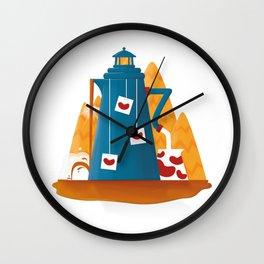 Tea Lighthouse Wall Clock