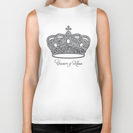 County of Kings | Brooklyn NYC Crown (GREY) Biker Tank