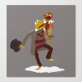 Kermit Christmas Carol Canvas Print