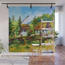 House in the village # 3 Wall Mural