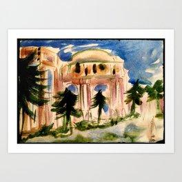 Palace of Fine Arts - San Francisco Art Print