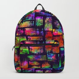 Rainbow brush stripes and strokes Backpack