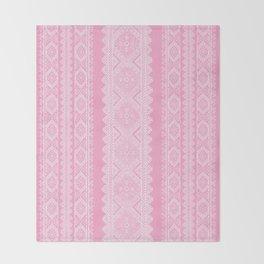 Ukrainian embroidery heavenly pink Throw Blanket