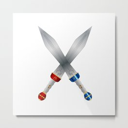 Two Roman Swords Metal Print