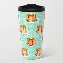 Pancakes & Dots Pattern Travel Mug