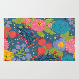 Color Flowers Rug