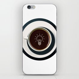 Coffee lights up my idea - I love Coffee iPhone Skin