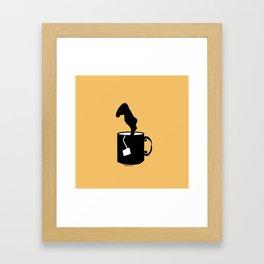 Cooling Mug Framed Art Print