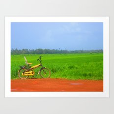 a ride in greenlush Art Print