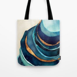 Abstract Blue with Gold Tote Bag