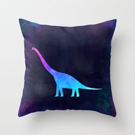 BRACHIOSAURUS IN SPACE // Animal Graphic Art // Watercolor Canvas Painting // Modern Minimal Cute Throw Pillow
