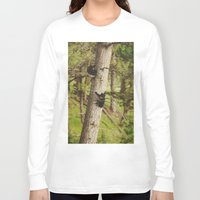 climbing Long Sleeve T-shirts featuring Climbing Cubs by Kevin Russ