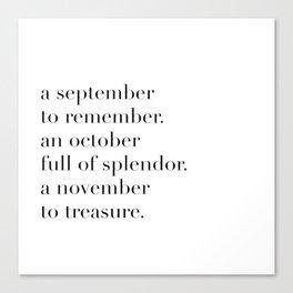 fall poem Canvas Print
