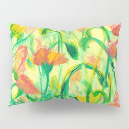 Sun drenched Poppies Pillow Sham