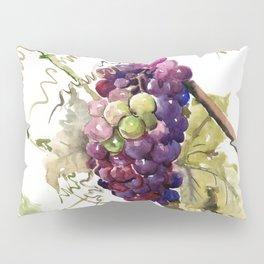 Grapes, California Vineyard Wine Lover design Pillow Sham