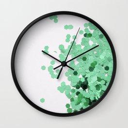 Glitz-Green Wall Clock