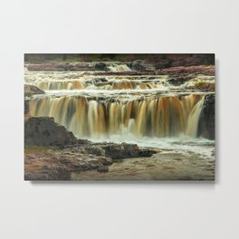 Waterfalls at Falls Park Sioux Falls in South Dakota Metal Print