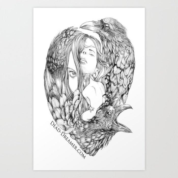 To Dream is to Die - Line Art Print