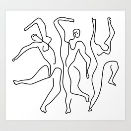 Picasso - the dancers Art Print