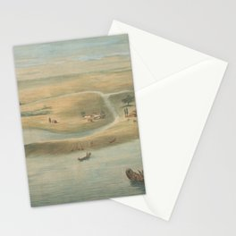 Vintage Map of Chicago in 1820 Stationery Cards