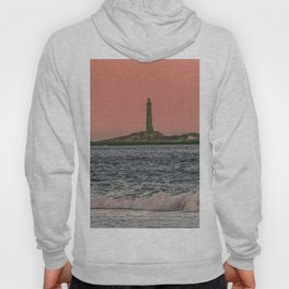 Pink sky and the Thacher's Islands north tower Hoody