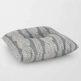 Cable Knit Grey Floor Pillow