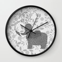 Happy Elephant Wall Clock