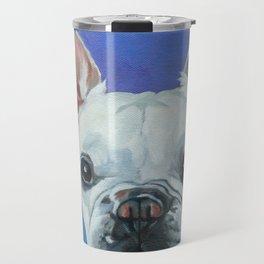 French Bulldog Portrait Painting Travel Mug