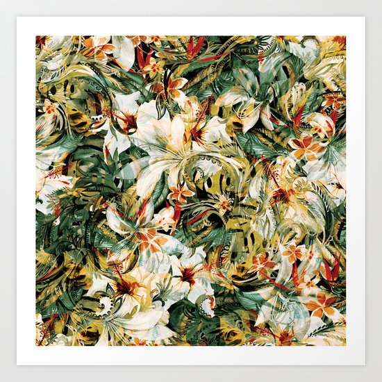 Seamless Floral Pattern Art Print