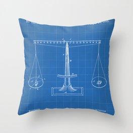 Lawyer Patent - Paralegal Art - Blueprint Throw Pillow