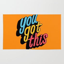you got this x typography Rug