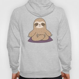 Kawaii Cute Yoga Sloth Hoody