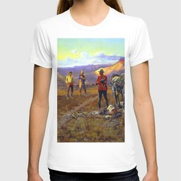 """""""Whiskey Smugglers"""" by Charles M Russell T-shirt"""