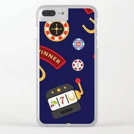 casino pattern Clear iPhone Case