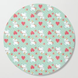 Baby Unicorn with Hearts Cutting Board