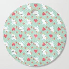 Baby Unicorn with Hearts Cutting Board