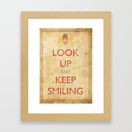 Budapest Look Up and Keep Smiling Framed Art Print