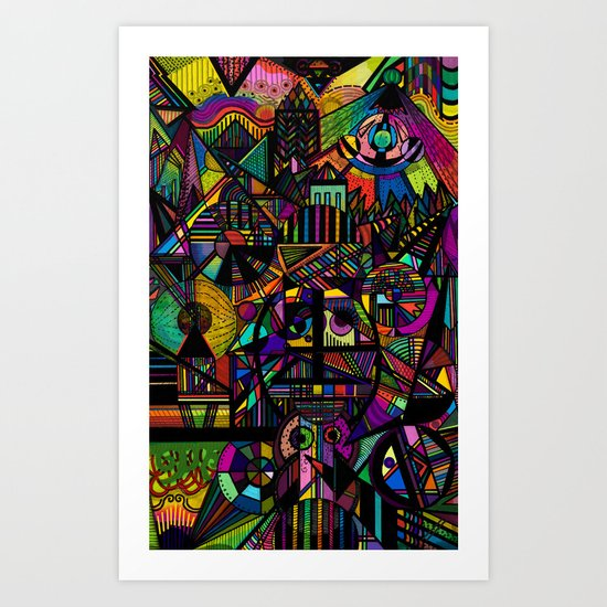 Ode to Colour Art Print