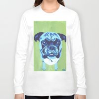 boxer Long Sleeve T-shirts featuring Boxer by mkfineart