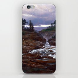 Johan Christian Dahl The Lower Falls of Labrofoss iPhone Skin