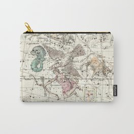Taurus, Antinous, Aquila, Delphinus Constellations Celestial Atlas Plate 10 - Alexander Jamieson Carry-All Pouch