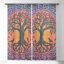 Viking Yggdrasil World Tree Sheer Curtain
