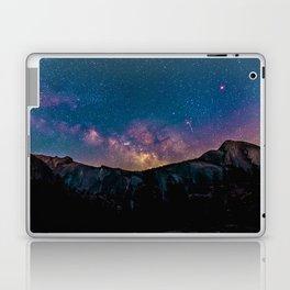 PURPLE MILKYWAY OVER THE MOUNTAINS Laptop & iPad Skin