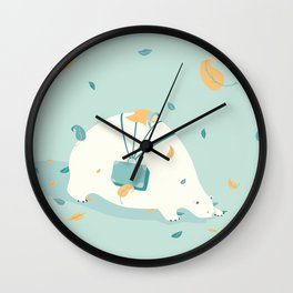 Bear and baby Wall Clock