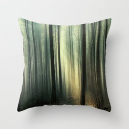 Forest and Sunlight Throw Pillow