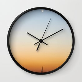 Sailboat Under the Moon Wall Clock