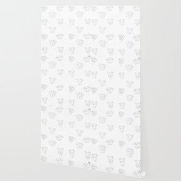 White pit bull love Wallpaper
